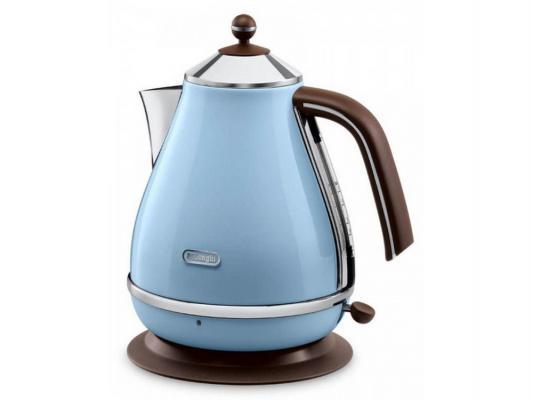 Чайник DeLonghi KBOV 2001 AZ 2000 Вт голубой 1.7 л металл кофемашина delonghi ecam 45 760 w белый