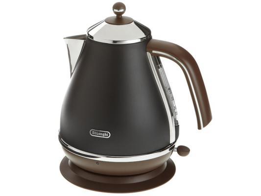 Чайник DeLonghi KBOV 2001 BK 2000 Вт чёрный 1.7 л металл кофемашина delonghi ecam 45 760 w белый