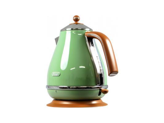 Чайник DeLonghi KBOV 2001 GR 2000 Вт зелёный 1.7 л металл/пластик цена и фото