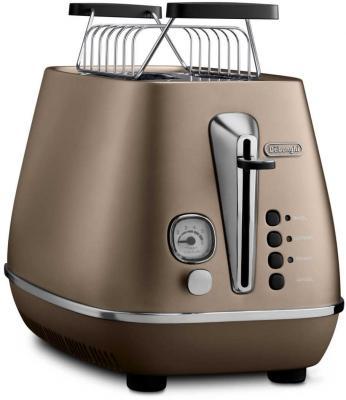 Тостер DeLonghi DISTINTA CTI 2103.BZ коричневый кофемашина delonghi ecam 45 760 w белый
