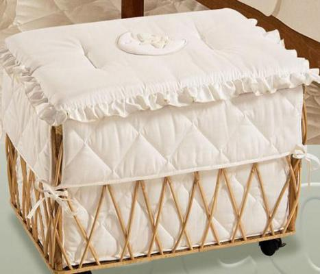 Плетеная корзина с крышкой Italbaby Amore ивовые прутья белый корзина italbaby плетеная корзина romantic