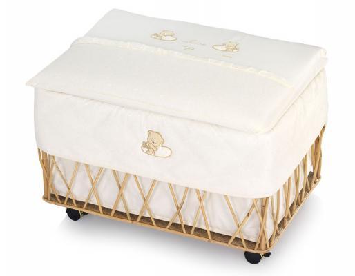 Ящик для игрушек с крышкой Italbaby Love ивовые прутья кремовый 650,0040 кроватка italbaby love