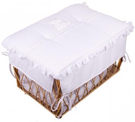 Плетеный ящик с крышкой Italbaby Principini дерево белый 650,0038-5