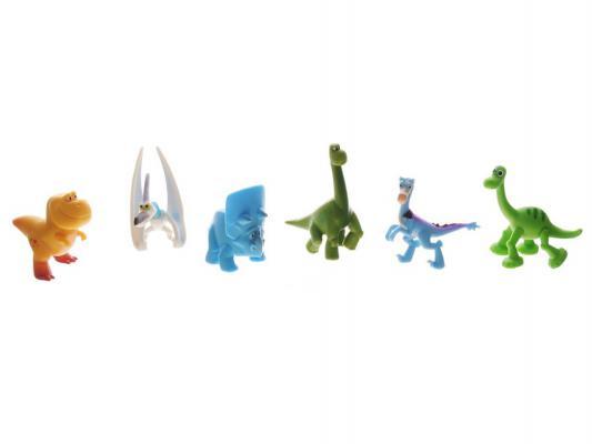 Набор фигурок Good Dinosaur Поппа, Птеродактиль, Арло, Нэш, Раптор, Трицератопс 62308