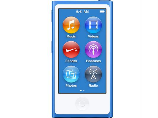 Плеер Apple iPod nano 16Gb MKN02RU/A синий apple ipod nano chromatic 4g 8gb