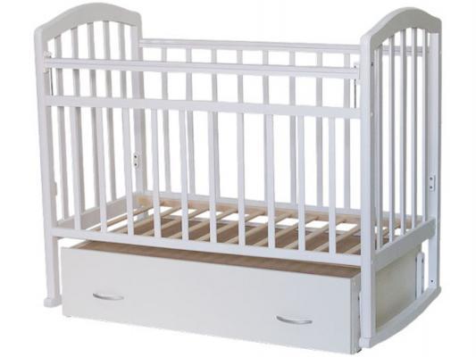 Кроватка с маятником Антел Алита-4 (белый)