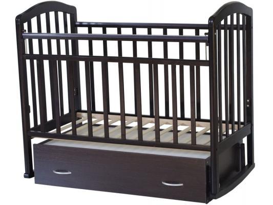 Кроватка с маятником Антел Алита-4 (венге)