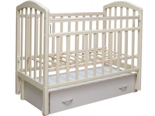 Кроватка с маятником Антел Алита-6 (белый)