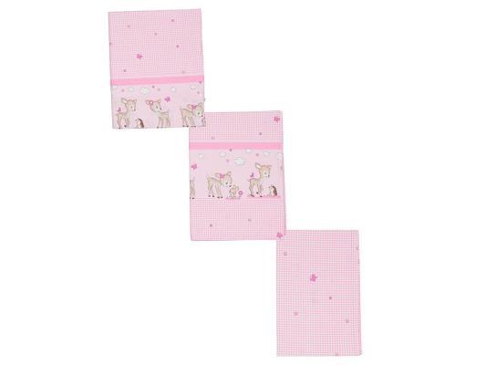 Постельный сет 7 предметов Тайна Снов Оленята (розовый)