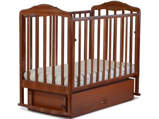 Кроватка с маятником СКВ Березка (орех/172007)