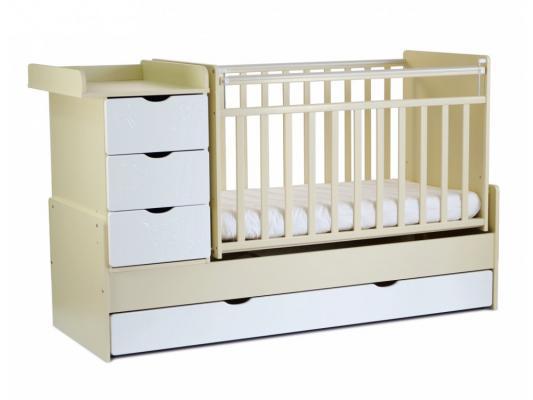 Кроватка-трансформер СКВ-5 (бежевый/фасад жираф/540039)