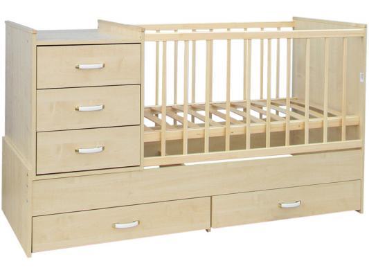 Кроватка-трансформер СКВ-5 (бежевый/544039) кроватка скв березка 120119 бежевый
