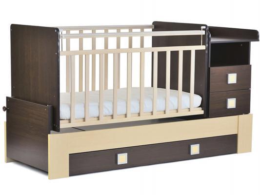 Кроватка-трансформер СКВ-8 (венге-береза/830038-5)