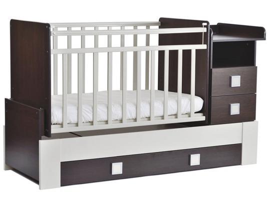 Кроватка-трансформер СКВ-8 (венге-белый/830038-1)