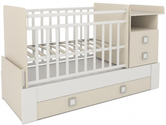 Кроватка-трансформер СКВ-8 (орех-бежевый/830037-9)