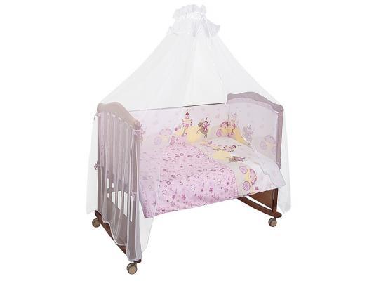 Постельный сет 7 предметов Сонный гномик Золушка (розовый) сонный гномик борт в кроватку прованс сонный гномик розовый