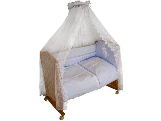 Постельный сет 7 предметов Сонный гномик Лунный Зай (голубой) борт в кроватку сонный гномик считалочка бежевый бсс 0358105 4