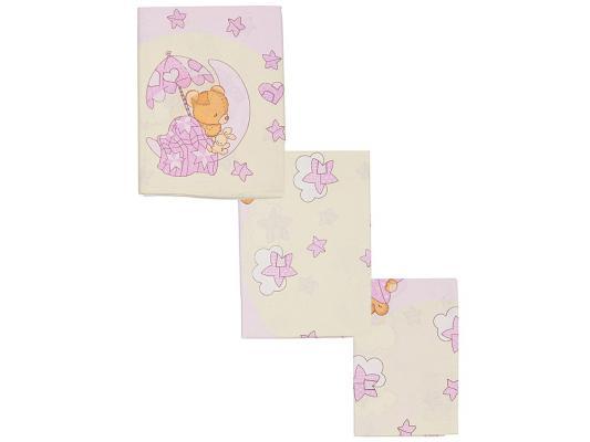 Постельный сет 7 предметов Сонный гномик Мишкин Сон (розовый)