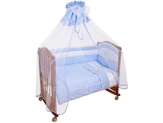 Постельный сет 7 предметов Сонный гномик Пушистик (голубой)