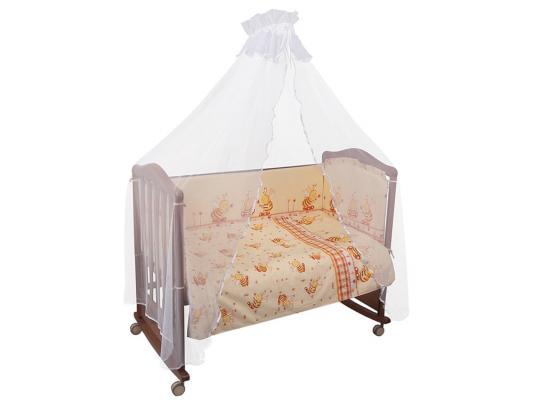 Постельный сет Сонный гномик Пчелки (бежевый) бампер в кроватку сонный гномик пчелки бежевый
