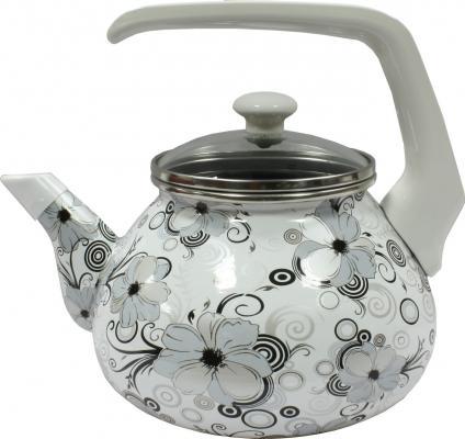 """Чайник INTEROS """"Кружево"""" рисунок 2.2 л нержавеющая сталь 1279"""