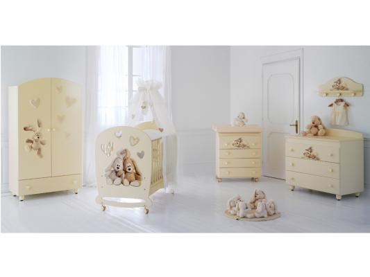 Кроватка-качалка Baby Expert Cremino Lux (белый)