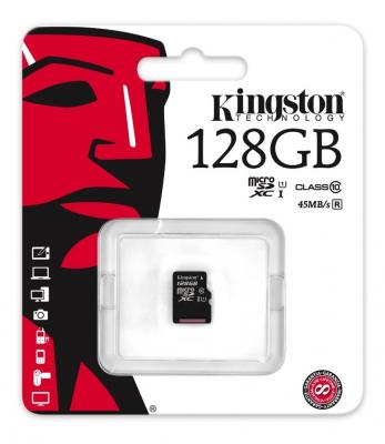 Карта памяти Micro SDXC 128GB Class 10 Kingston SDC10G2/128GBSP без адаптера карта памяти kingston sdc10 16gbsp