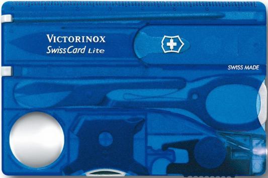 Швейцарская карта Victorinox SwissCard Lite 0.7322.T2 13 функций полупрозрачный синий