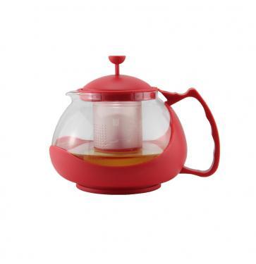 Чайник заварочный Zeidan Z-4105 красный 0.8 л пластик/стекло