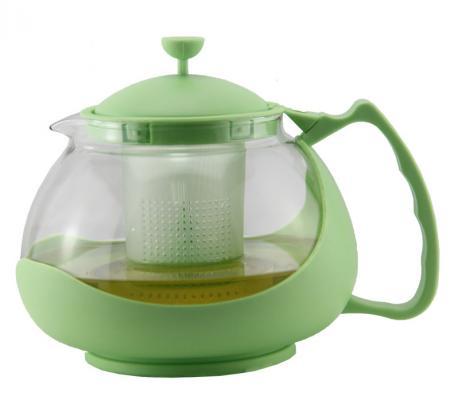 Чайник заварочный Zeidan Z-4106 зелёный 1.15 л пластик/стекло