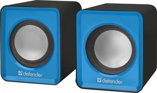 Колонки DEFENDER SPK 22 2x2.5Вт синий 65501 колонки defender spk 22 2x2 5вт черный 65503