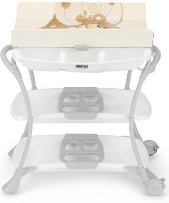 Купить Стол пеленальный с ванночкой Cam Nuvola (цвет 219), бежевый, пластик, Столы для пеленания