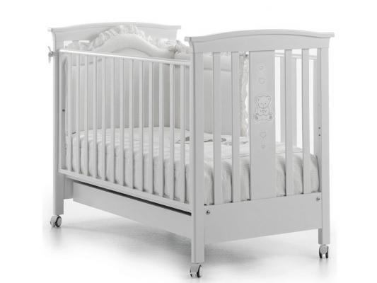 Купить Кроватка Erbesi Incanto (белый), бук, Кроватки без укачивания