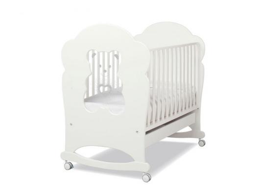Купить Кроватка-качалка Erbesi Tiffany (белый), бук, Кроватки-качалки