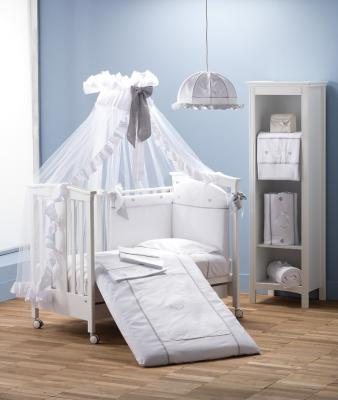 Балдахин на кроватку Erbesi Cuori (белый) балдахин на кроватку esspero shine beige