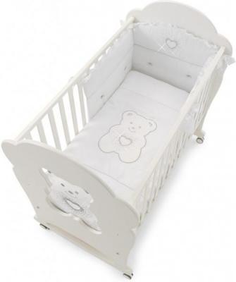 Комплект постельного белья 3 предмета Erbesi Tiffany (белый) cloud factory комплект постельного белья 3 предмета рыбы
