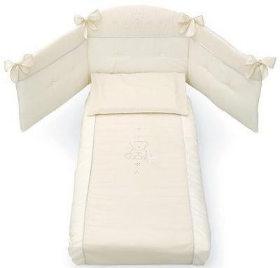 Комплект постельного белья 3 предмета Erbesi Brillante (слоновая кость)