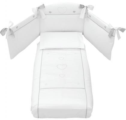 Сменное постельное белье Erbesi Cuori (белый)