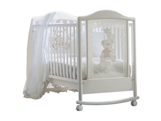 Кроватка-качалка Pali Meggie (белый)