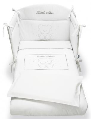 Комплект постельного белья 3 предмета Pali Little Star Prestige (белый)