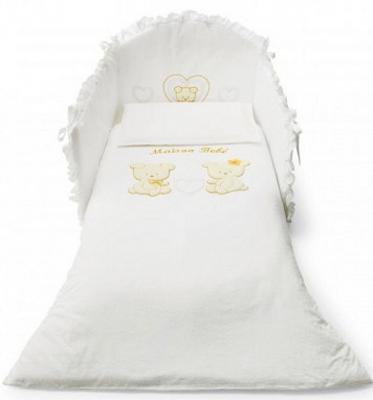 Комплект постельного белья 3 предмета Pali Smart Maison Bebe (белый)