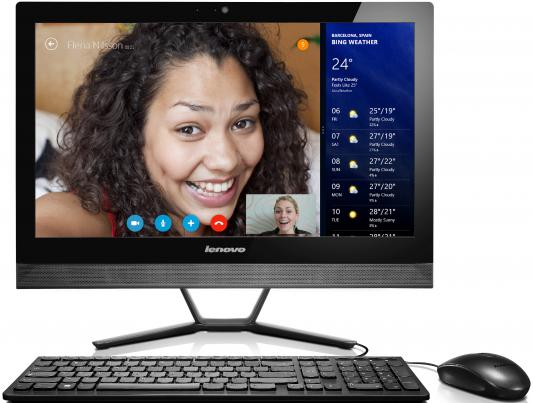 "Моноблок 23"" Lenovo IdeaCentre C50-30 1920 x 1080 Intel Pentium-3825U 4Gb 1Tb Intel HD Graphics 64 Мб Windows 10 черный F0B100MTRK"