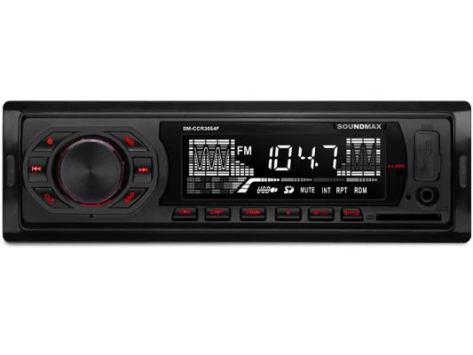 Автомагнитола Soundmax SM-CCR3054F USB MP3 FM SD 1DIN 4x45Вт черный