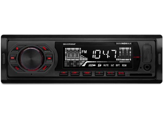 Автомагнитола Soundmax SM-CCR3054F USB MP3 FM SD 1DIN 4x45Вт черный автомагнитола soundmax sm ccr3052f usb mp3 fm sd 1din 4x45вт черный