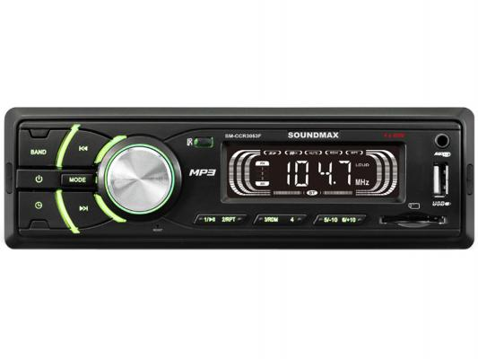 Автомагнитола Soundmax SM-CCR3053F USB MP3 FM SD 1DIN 4x45Вт черный 9inch 10inch car headrest monitor hd lcd screen digital car mp5 player touch button remote with control usb sd fm transmitter