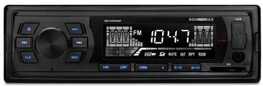 Автомагнитола Soundmax SM-CCR3055F USB MP3 FM SD 1DIN 4x45Вт черный автомагнитола soundmax sm ccr3058f usb mp3 fm sd mmc 1din 4x40вт черный