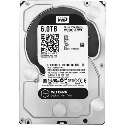 "Жесткий диск 3.5"" 6 Tb 7200rpm 128Mb cache Western Digital Black SATAIII WD6001FZWX"