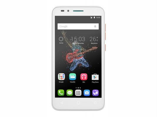 "Смартфон Alcatel OneTouch Go Play оранжевый белый 5"" 8 Гб LTE Wi-Fi GPS"