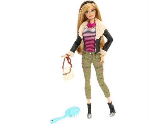 Кукла Barbie Fashionistas Deluxe в брюках и черной куртке 29 см BLR55 от 123.ru