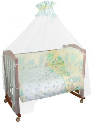 Постельный сет Сонный гномик Акварель (бирюзовый) борт в кроватку сонный гномик считалочка бежевый бсс 0358105 4